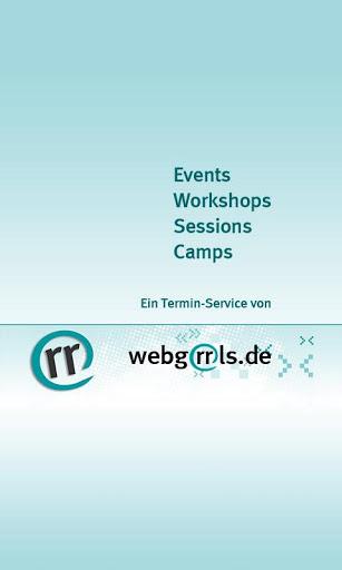 Screenshot Webgrrls Events App
